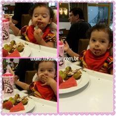 Julie adorando a sobremesa